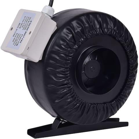 Costway 4'' Inline Duct Fan Hydroponics Exhaust Cooling Fan Blower Strong CFM