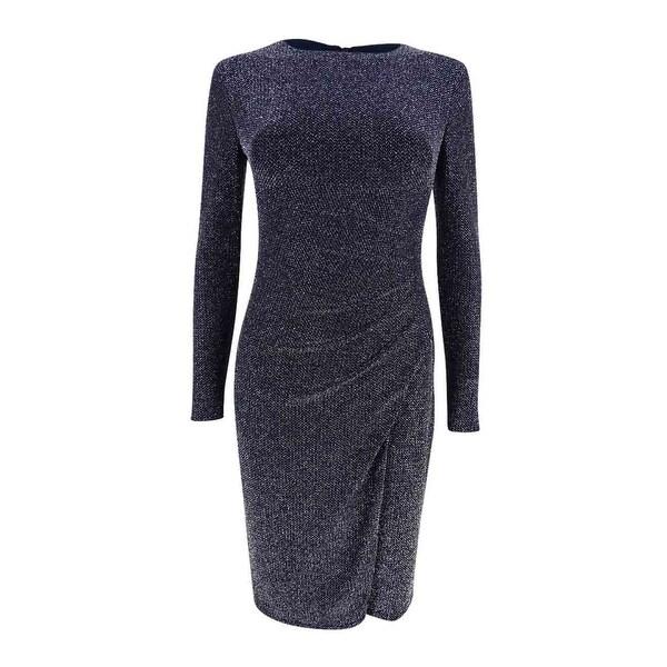 Shop Lauren Ralph Lauren Womens Petite Metallic Jacquard Dress