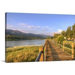 """Stanfield Marsh boardwalks, California"" Canvas Wall Art"