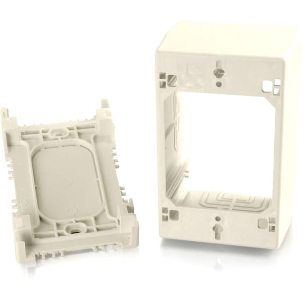 C2g 16041 wiremold® uniduct single gang extra deep junction box - ivory (taa compliant