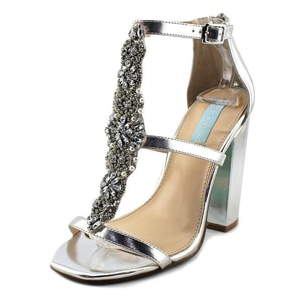 Betsey Johnson Lydia Women Open Toe Synthetic Silver Sandals