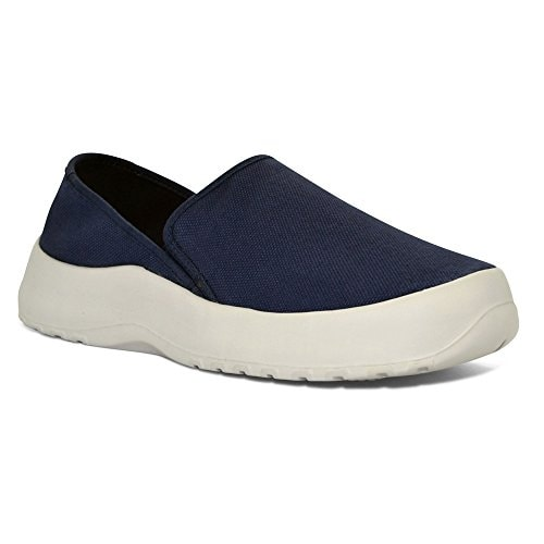 SoftScience Drift Canvas Slip-On,Blue Denim Cotton Canvas,US 4 E