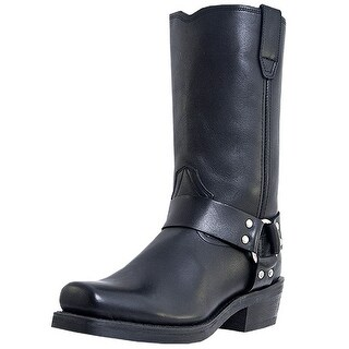 Dingo Motorcycle Boots Mens Leather Jay Harness Black DI19057