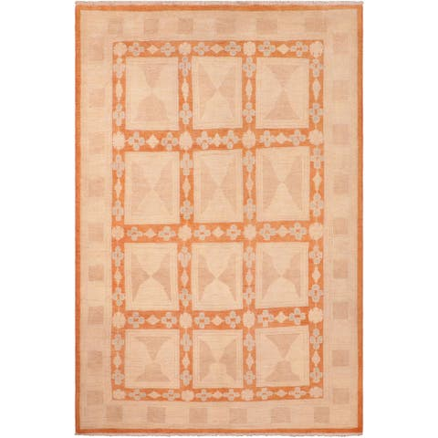 """Boho Chic Ziegler Monserra Hand Knotted Area Rug -5'10"""" x 8'10"""" - 5 ft. 10 in. X 8 ft. 10 in."""