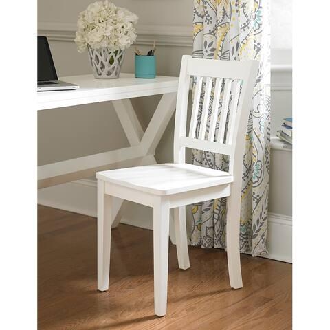 "NE Kids School House Collection White Chair - 18.5"" x 17"" x 36"""