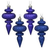 """4"""" Cobalt Blue Finial 4 Finish Asst 8/Bx"""