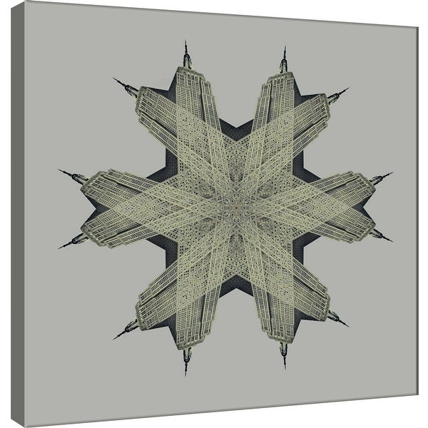 """PTM Images 9-101281 PTM Canvas Collection 12"""" x 12"""" - """"Empire State Medallion 1"""" Giclee Abstract Art Print on Canvas"""