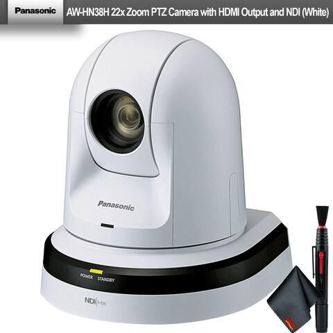 Panasonic AW-HN38H 22x Zoom PTZ Camera with HDMI Output and NDI (White)