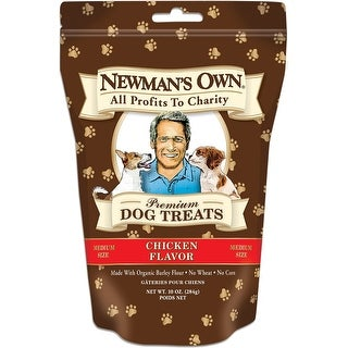 Newman's Own Organics Premium Dog Treats - Chicken - Case of 6 - 10 oz.