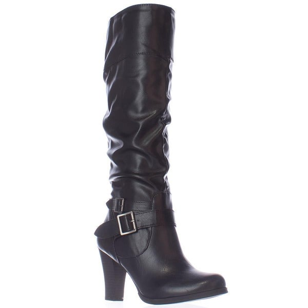 SC35 Rudyy Heeled Knee High Boots, Black