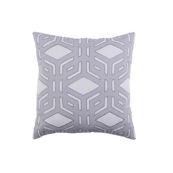 "18"" Rhomboidal Tribe Gargoyle Gray Woven Decorative Throw Pillow - Down Filler"