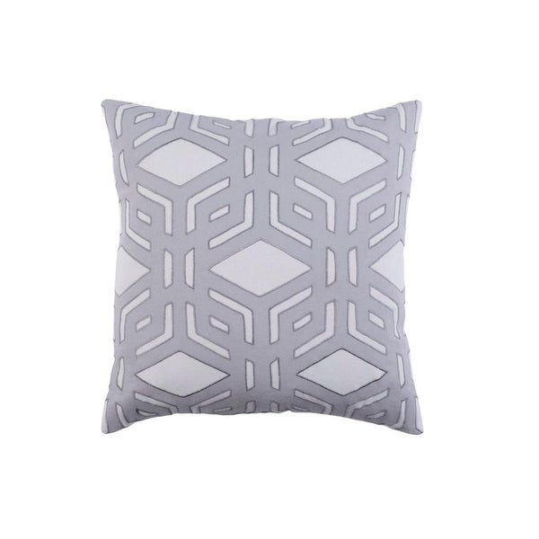 "18"" Rhomboidal Tribe Gargoyle Gray Woven Decorative Throw Pillow"