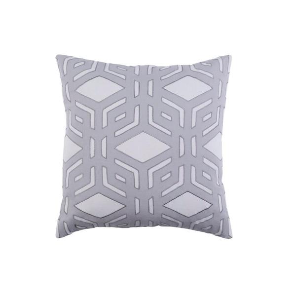 "22"" Rhomboidal Tribe Gargoyle Gray Woven Decorative Throw Pillow - Down Filler"