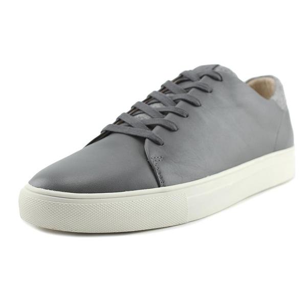 Sam Edelman Garett Men Round Toe Leather Gray Sneakers