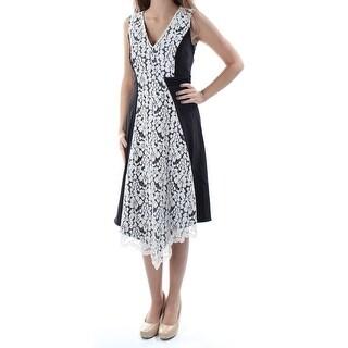 RACHEL ROY $169 Womens New 1391 Black Lace Sleeveless V Neck A-Line Dress 6 B+B