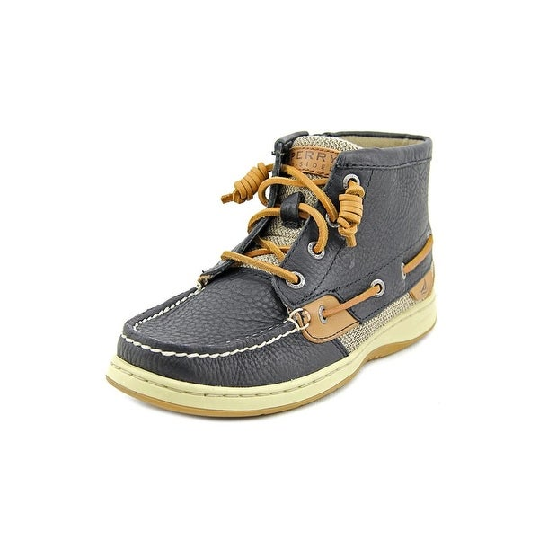 Sperry Top Sider Marella Women Moc Toe Leather Black Boot