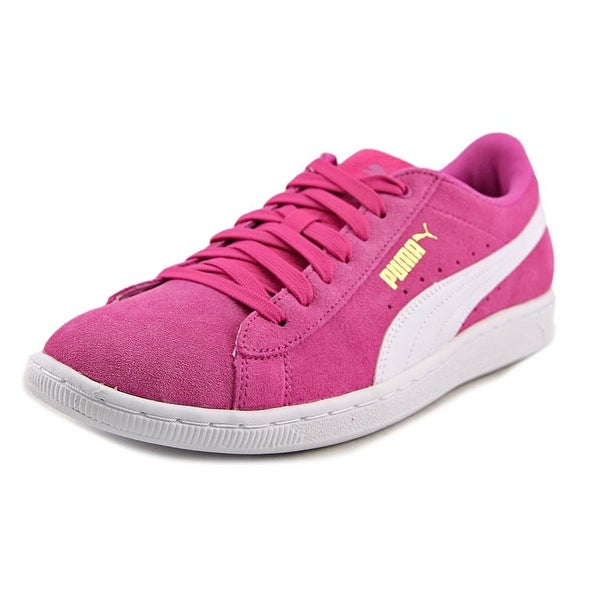 Puma Vikky Women Round Toe Suede Pink Sneakers