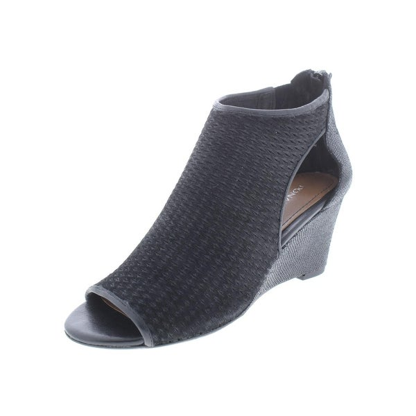 38f11a673 Shop Donald J. Pliner Womens Jace Wedge Sandals Shimmer Suede - Free ...