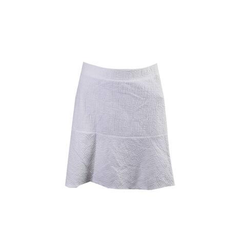 Michael Michael Kors White Textured Pull - On Mini Skirt 6 Size - S (4 - 6)