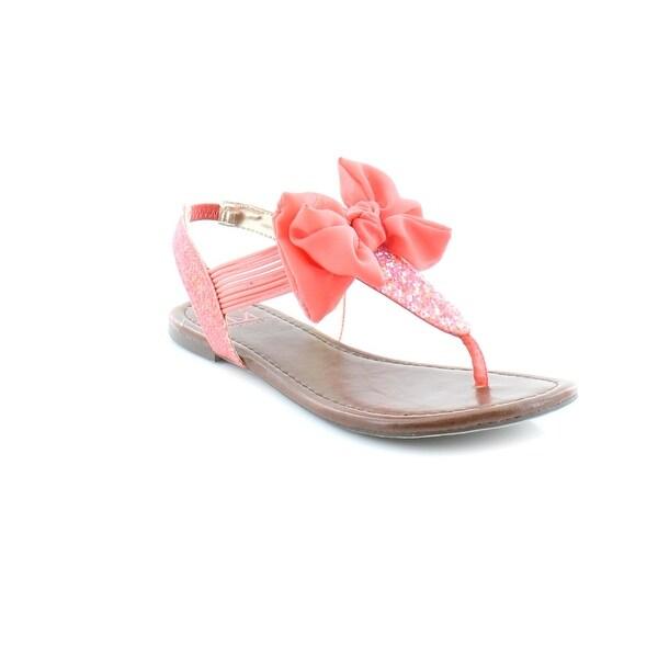 Material Girl Swan Women's Sandals & Flip Flops Coral