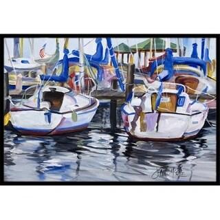 Carolines Treasures JMK1054MAT Sailboats Indoor & Outdoor Mat 18 x 27 in.