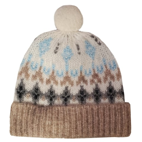 Rag and Bone Winter Pom Pom Hat Oatmeal