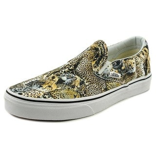 Vans Classic Slip-On Women Round Toe Canvas Multi Color Sneakers