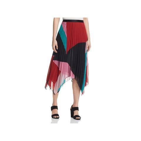 Joie Womens Dashiella Maxi Skirt Colorblock Pleated - Multi - S