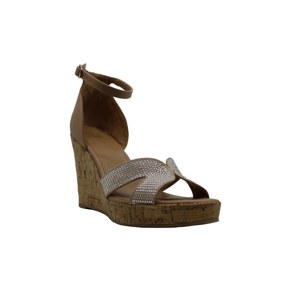 Material Girl Womens Bretta Leather Open Toe Casual Platform Sandals. Opens flyout.