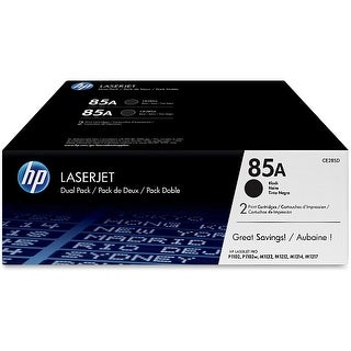 Hewlett Packard CE285D HP 85A (CE285D) 2-pack Black Original LaserJet Toner Cartridges - Black - Laser - 1600 Page