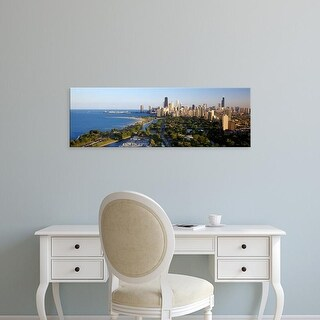 Easy Art Prints Panoramic Images's 'USA, Illinois, Chicago' Premium Canvas Art