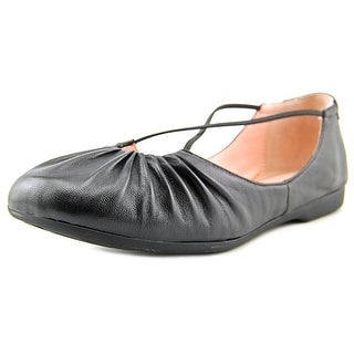 13f101699ef Shop Taryn Rose Bryan Women Round Toe Leather Black Flats - Free Shipping  Today - Overstock - 17154207