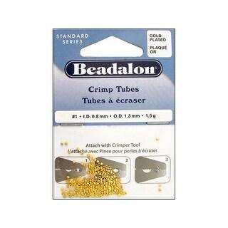 Beadalon Crimp Tube 1.3mm Gold Plate 1.5G