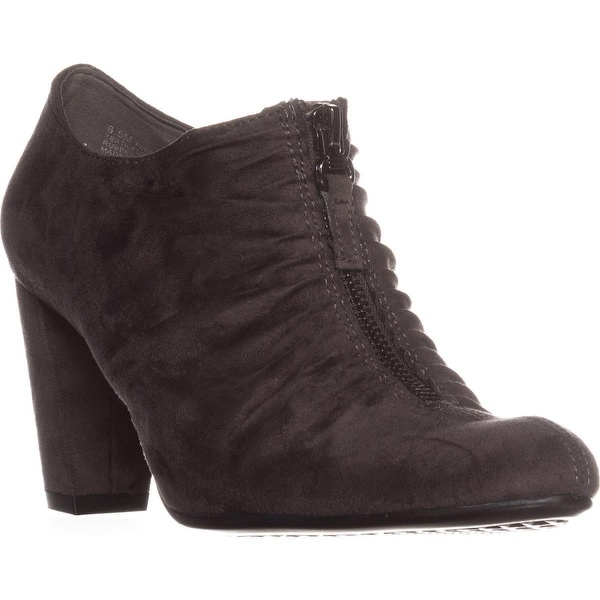 Aerosoles Fortunate Front Zip Scrunch Ankle Boots, Grey