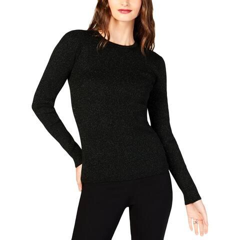 MICHAEL Michael Kors Womens Petites Pullover Sweater Crewneck Long Sleeve