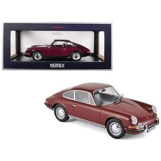 1969 Porsche 911 T Dark Red 1/18 Diecast Model Car by Norev