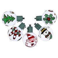 Battery Operated Painted Christmas Traditions LED G50 Lights - Gree