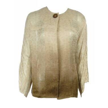 DB Life Dana Buchman Womens Ombre Jacket Blouse Misses - Sand - XS