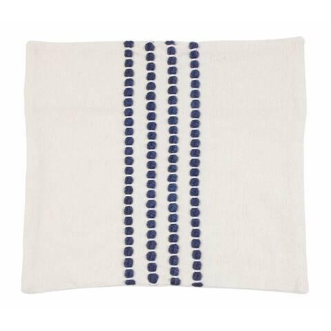 20x20 Wanda Yarn Stitched Woven Cotton Pillow Shell