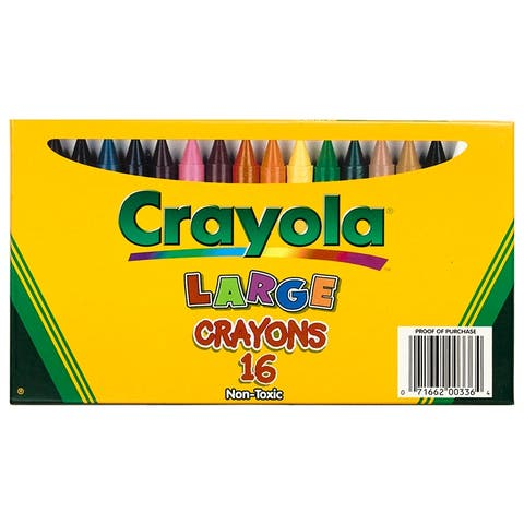 Crayola Large Size Crayon 16Pk