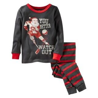 OshKosh B'gosh Little Boys' Santa Hockey Holiday Pajamas- 2T