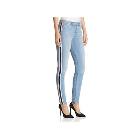 T Tahari Womens Goldie Skinny Jeans Denim Light Wash