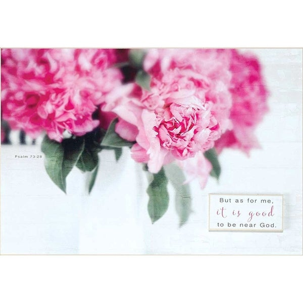 """But As For Me Psalm 73:28 White Wood Wall Plaque 11"""" x 16"""" - other-frame-size"""