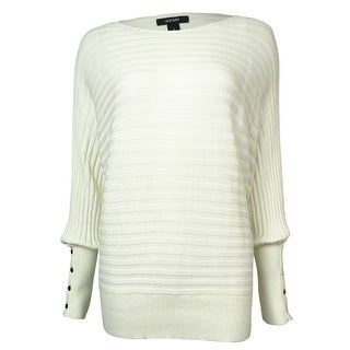 Alfani Women's Button-Trim Dolman Rib-Knit Sweater