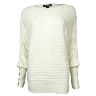 Alfani Women's Button-Trim Dolman Rib-Knit Sweater|https://ak1.ostkcdn.com/images/products/is/images/direct/6664fa3646630ea4e1b292dd737e6ea698840304/Alfani-Women%27s-Button-Trim-Dolman-Rib-Knit-Sweater.jpg?impolicy=medium