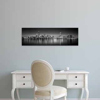 Easy Art Prints Panoramic Images's 'Skyscrapers, Lake Michigan, Digital Composite, Chicago, Cook Illinois' Canvas Art