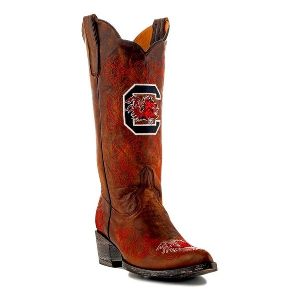 Gameday Boots Womens College Team South Carolina Brass Red