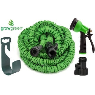 expandable garden hoses. GrowGreen® Expandable Garden Hose Set 50 Feet Hoses