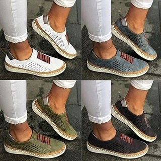 Link to Leather Perforated Slip-On Sneakers Similar Items in Women's Shoes