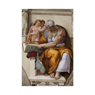 Easy Art Prints Michelangelo's 'Cumaean Sibyl, Sistine Chapel' Premium Canvas Art
